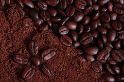 Coffee background. Nice coffee beans background for decoration close-up royalty free stock photography