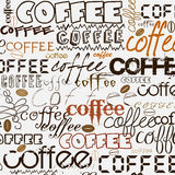 Coffee background. With text lettering of coffee Royalty Free Stock Image