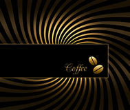 Coffee background. Black and gold coffee background stock illustration