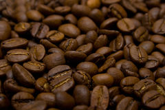 Coffee background. Fragrant fried coffee beans. A background Royalty Free Stock Image