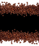 Coffee background. Coffee beans on black and white background stock photo
