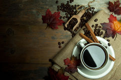Coffee background autumn Royalty Free Stock Images