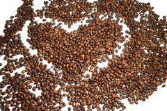 Coffee background coffee beans. Coffee background cheerfulness morning espresso cappuccino mood caffeine coffee beans brown texture deliciously many grains Stock Photography
