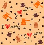Coffee_background Royalty Free Stock Photography