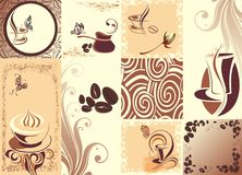 Coffee background with butterflies Stock Photography