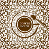Coffee background with cap Stock Photo
