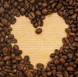 Coffee background. For a card or menu Royalty Free Stock Image