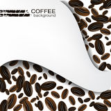 Coffee background with coffee beans Royalty Free Stock Image