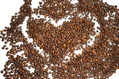 Coffee background coffee beans. Coffee background cheerfulness morning espresso cappuccino mood caffeine coffee beans brown texture deliciously many grains Stock Image