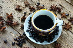 Coffee background, coffee cup, coffee bean Stock Photo