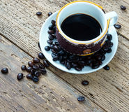 Coffee background, coffee cup, coffee bean Royalty Free Stock Photography