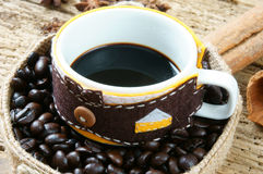 Coffee background, coffee cup, coffee bean Royalty Free Stock Photo