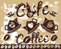 Coffee background with creative elements Royalty Free Stock Image