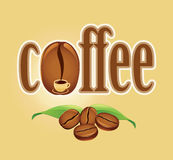 Coffee background with cup and beans Stock Photo