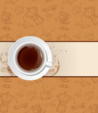 Coffee background and cup Royalty Free Stock Photography