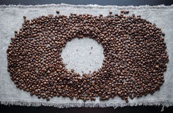 Coffee background element bean grey brown Royalty Free Stock Photo