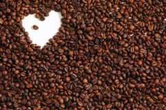 Coffee Background with Heart Royalty Free Stock Image