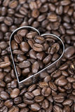 Coffee Background (with Hearts) Royalty Free Stock Photography