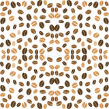 Coffee background seamless with many beans Royalty Free Stock Photography