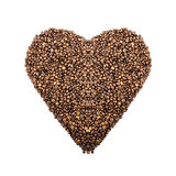 Coffee background  in the shape of heart Stock Photography