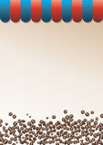 Coffee background with striped peak. Gradient colored coffee background with striped peak. Illustration can be used for food menu Stock Photos