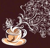 Coffee background. Vector illustration  Royalty Free Stock Images