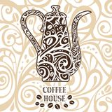 Coffee background, vector illustration Royalty Free Stock Image