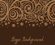 Coffee background, vector illustration Stock Photo