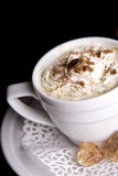 Coffee background and white cup Royalty Free Stock Image