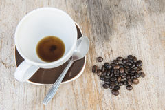 Coffee background wood Royalty Free Stock Image