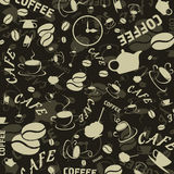 Coffee background3. Brown background on a coffee theme. A vector illustration Royalty Free Stock Photo