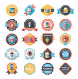 Coffee badge design flat background set, eps10 Royalty Free Stock Photo