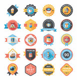 Coffee badge design flat background set, eps10 Royalty Free Stock Photography