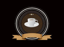 Coffee badge Royalty Free Stock Images