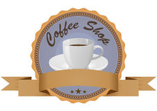 Coffee badge Stock Photography