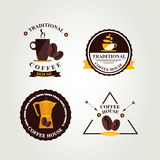 Coffee badge,label, icon menu. Royalty Free Stock Images