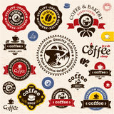 Coffee badges and labels royalty free illustration