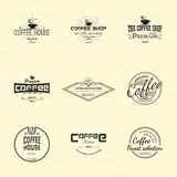 Coffee badges logos and labels for any use. On a white background Royalty Free Stock Images