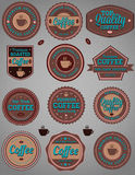Coffee badges Stock Photography