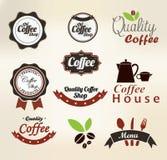 Coffee badges Stock Photos