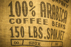 Coffee bag Stock Photos