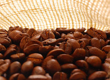 Coffee in a bag. Other bakcground images also available royalty free stock image
