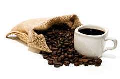 Coffee bag with cup Stock Image