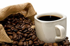 Coffee bag with cup Royalty Free Stock Images