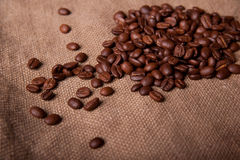 Coffee on the bag Royalty Free Stock Photography