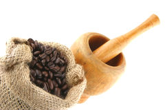 Free Coffee Bag Full Of Beans Royalty Free Stock Image - 10398946