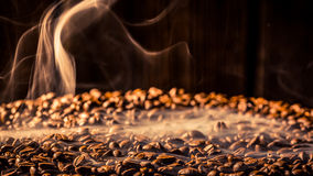 Coffee bag full of taste roasted grains Stock Photo