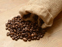 Coffee in a bag. Royalty Free Stock Image