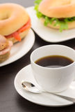 Coffee and Bages Stock Images
