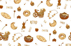 Coffee Bake Pattern Stock Photos